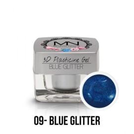 3D Plasticine Gel - 09 - Blue Glitter - 3,5g