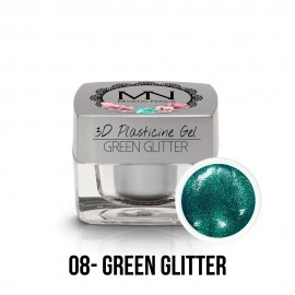 3D Plasticine Gel - 08 - Green Glitter - 3,5g