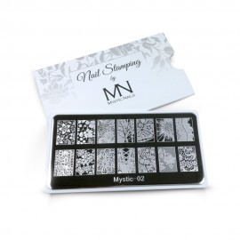 Nail stamping plate - 02. (ΜΟΝΟ ΜΕ ΒΕΡΝΙΚΙ)