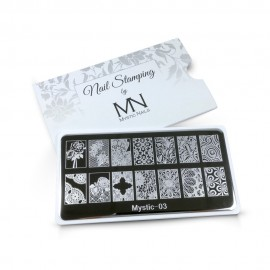 Nail stamping plate - 03.