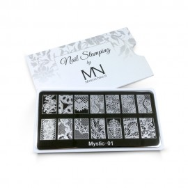 Nail stamping plate - 01.