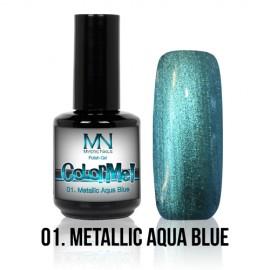 ColorMe! Metallic no.01. - Metallic Aqua Blue 8 ml