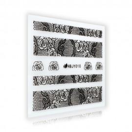Black Lace Sticker - HBJY010