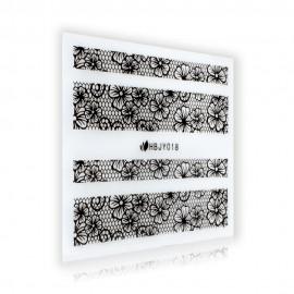 Black Lace Sticker - HBJY018