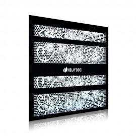White Lace Sticker - HBJY003