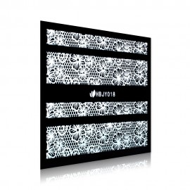 White Lace Sticker - HBJY018