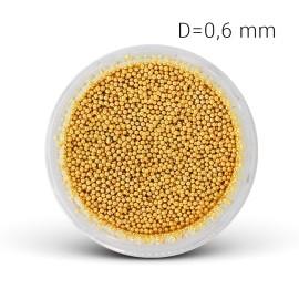 Metal beads - gold (0,6 mm)