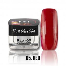 UV Painting Nail Art Gel - 05 - Red