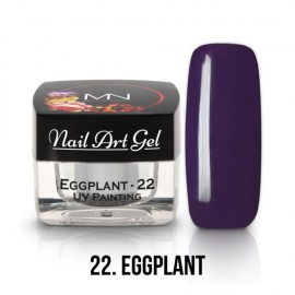 UV Painting Nail Art Gel - 22 - Eggplant - 4g