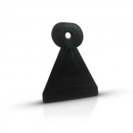 Nail stamping scraper - black